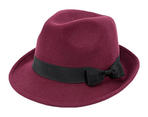 Black Temptation Damen kurzer Krempe Mode Homburg Hut