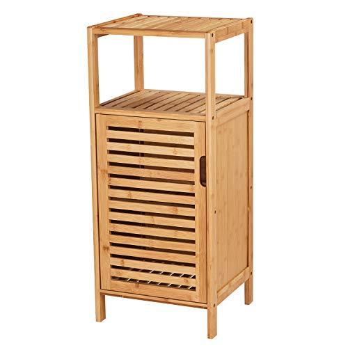 VIAGDO Bathroom Floor Cabinet, Wooden Storage Organizer Unit with Single Door and Shelf, Free Standing Kitchen Cupboard, Console Sofa Side Table for Living Room/Hallway/Bedroom/Kitchen