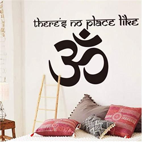 Lovemq 58 * 81Cm Om Shanti Om Symbole Hindouisme Vinyle Sticker Mural Yogs Namaste Décoration De La Maison Stickers Indien Peace Stickers Aum Namah Shivaya
