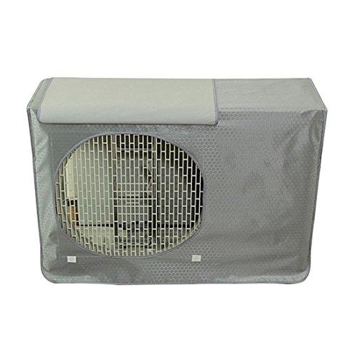 Pinji Funda de Aire Acondicionado Anti-Polvo Impermeable Gris M