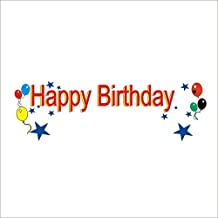 Custom Happy Birthday Custom Printed Banner Full Color 1 Sided Vinyl Plastic