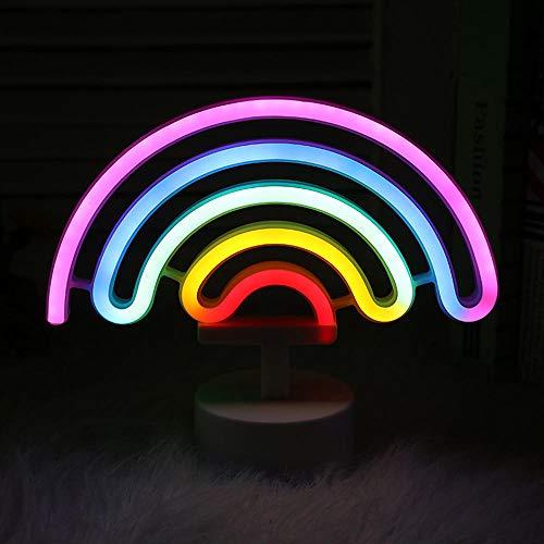 Neonlicht, kleurrijke ledlamp, neonlicht, werkt op batterijen, creatief nachtlampje, neonlicht, kerstlicht, wandlamp, led neon
