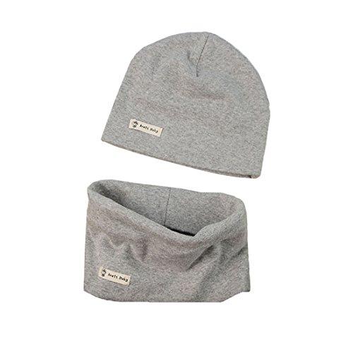 PAADIYA Boomly Autunno e Inverno Caldo Cute Tinta unita Morbido Cappello in Cotone Berretto e Sciarpa Scaldacollo Sciarpa per Bambino