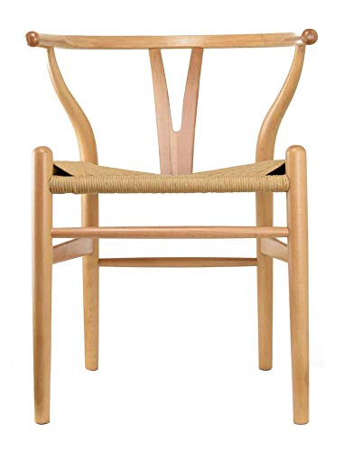 2xhome Bone Daning Chair, Natural