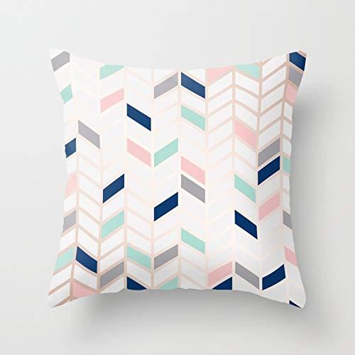 PPMP Funda de Almohada con Forma de corazón de piña de mármol Rosa, Funda de cojín geométrica para sofá en casa, Funda de Almohada Decorativa A7, 45x45cm, 2pcs