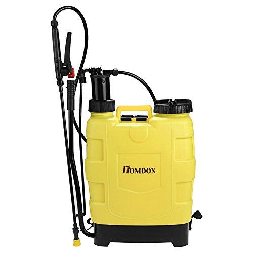 Homdox 5 Gallon Backpack Sprayer 20L Pump Sprayers with Steel Wand for Garden Lawn Yard Farm