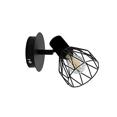 Industrial Modern Bathroom Mini Vanity Light Fixtures Black Farmhouse Wall Sconces for Bedroom Bar Kitchen Dinning Living Room (1-Light)
