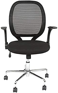 Arles Mid-Back Mesh Office Chair, Ergonomic Swivel Adjustable Computer Task Desk Chairs with Armrest for Home & Office