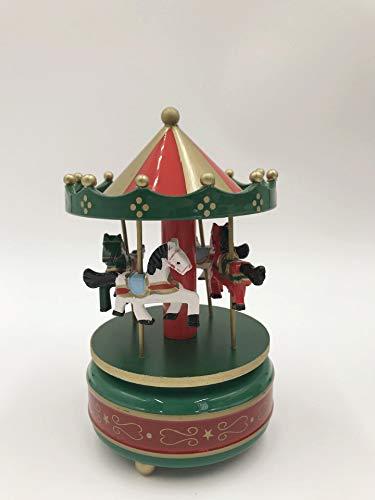 ZWH Carrusel Decorada Caja de música Caja de música for Hornear Tarta de cumpleaños Directa de fábrica al por Mayor de la decoración del hogar (Color : Green)