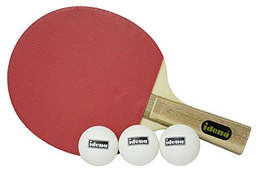 Idena 7423505 - Tischtennis Basis-Set mit Schläger und 3 Bälle, Tennis Tischtennis