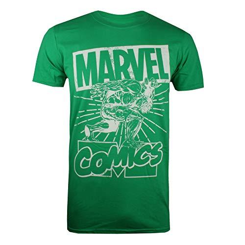 Marvel Hulk Lift T-Shirt, Verde (Irish Green Grn), (Taglia Produttore: Large) Uomo
