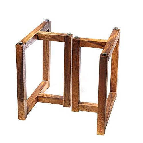 YXW Tischkufen T-förmige Holz tischbeine 68cm Hoch 60cm Breit Möbelbeine, chinesischer Vintage, Bankgestell, Kufengestell, Esstisch, DIY Tisch, 2er Set