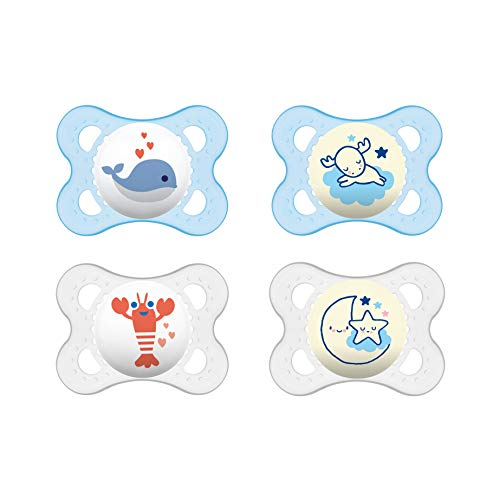 MAM 99971011 Day & Night Chupete 0 – 6 Meses, Azul, 35,3 g