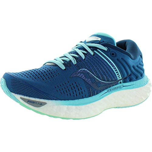 Saucony Women's S10546-25 Triumph 17 Running Shoe, Blue/Aqua - 9 M US