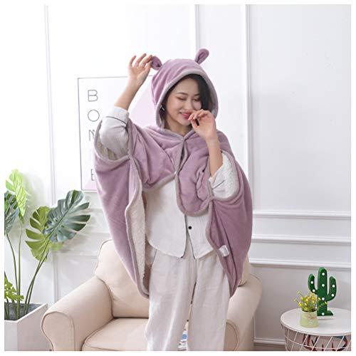 QL dekens nieuwe dames herfst en winter dikke flanel deken dubbele lammeren deken bank deken kantoor mantel sjaal deken