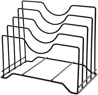 JVSISM Support De Couvercle Rangement Couvercle Pan Armoire Garde-Manger Organisateur De Rack Multifonctionnel Cuisine Cou...