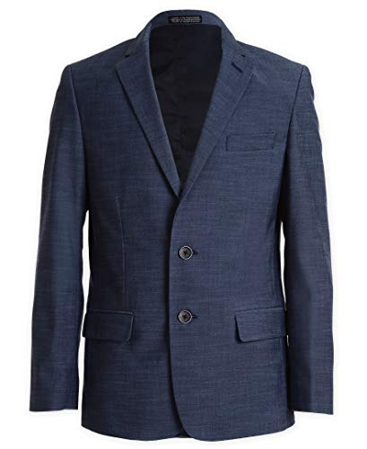 Calvin Klein Boys' Big Blazer Suit Jacket, Blue Weave, 12