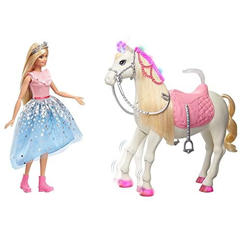 Barbie Princesse Adventure poupée blonde articulée et son ch