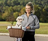 PetSafe Happy Ride Wicker Bicycle Basket for Dogs and Cats - Stylish...