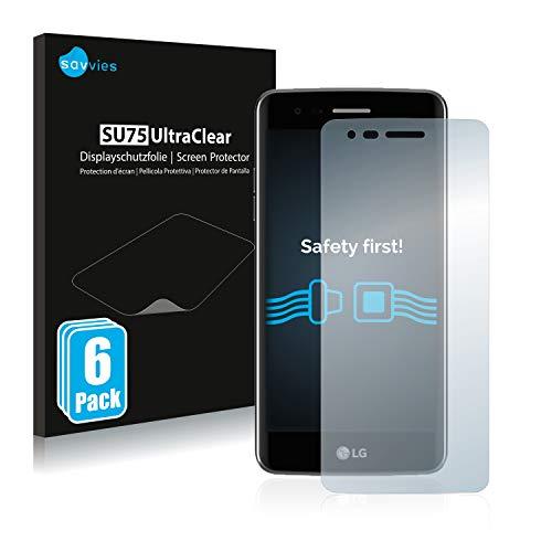 Savvies 6X Schutzfolie kompatibel mit LG K8 2017 Bildschirmschutz-Folie Ultra-transparent