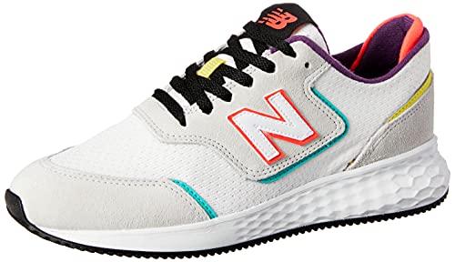 Tênis New Balance X70, Feminino, Branco/Rosa/Preto, 37