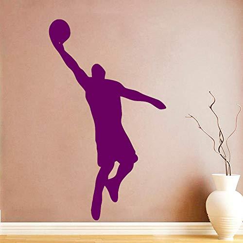 Etiqueta de la pared del jugador de baloncesto Baloncesto Jugadores deportivos Etiqueta de la pared Extraíble Fondo de la pared Decoración Diy Vinilo Arte de la pared ~ 1 43 * 74 cm