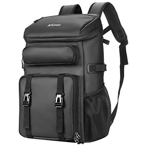 45L Kühltasche, Picknickrucksack, Lunchtasche, Thermotasche, Isolierrucksack für Lebensmitteltransport, Rucksack schwarz (Schwarz A)