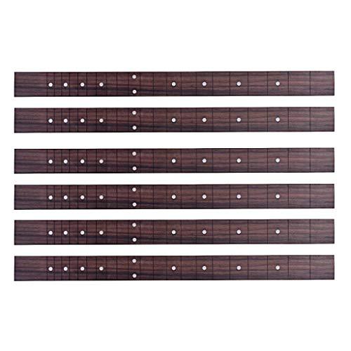 SM SunniMix 6 x Palisander Zigarrenbox Gitarren Griffbrett 21 Fret für 3 Saiten Cigar Box Gitarre DIY Teile