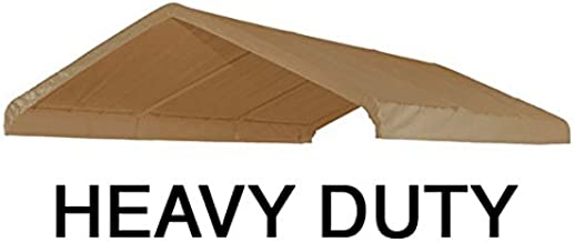 10X20 Heavy Duty Beige Canopy Top Cover with Valance
