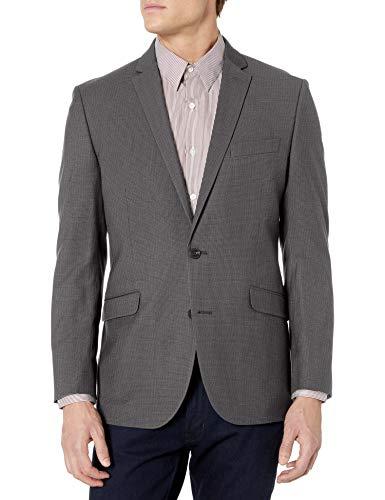Kenneth Cole REACTION Men's Slim Fit Blazer, Charcoal Texture, 44R