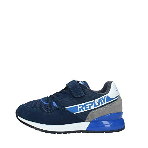 REPLAY GBS29.322 - Zapatillas infantiles, Azul (azul marino), 33 EU