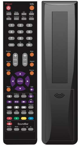 142022370014C Remote Control Replacement for Sceptre TV/DVD Combo SoundBar Remote Control