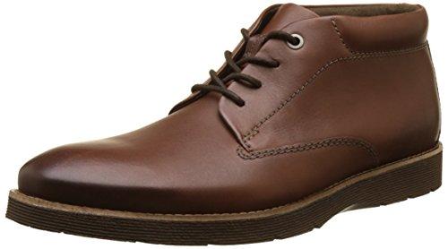 Clarks Folcroft Mid, Botas Hombre, Marrón (Dark Tan Leather), 41.5 EU