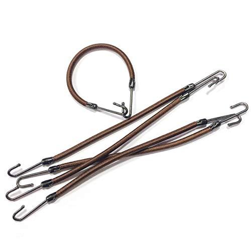 Solustre 20 Stück Pferdeschwanzhaken Gummiband Haarhaken Pferdeschwanzhalter Kaffee Gummibänder Haarspangenhalter mit Haken