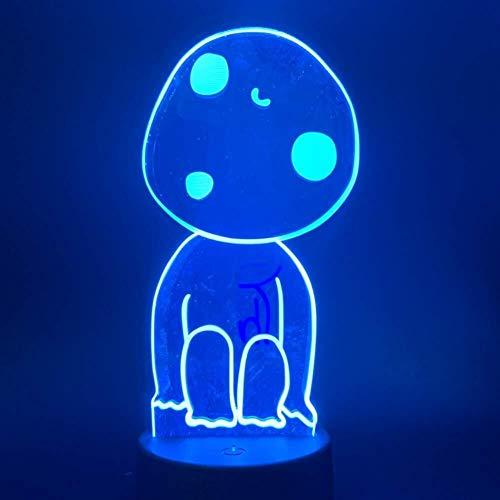 3D Illusion Led Night Light Veilleuse bébé PLAFONNIER Beau cadeau Princesse Esprit veilleuses lampe unique Changer la couleur lumière de nuit