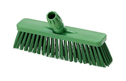 Aricasa Hygiene Products 1038GS bezem, recht, met steel cm. 30 voedselveilig - groen - zachte vezel