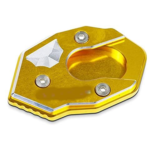 KHSM para K-awasaki Versys300 VersysX250 Versys1000 Soporte De Motocicleta Placa De Ampliación Soporte Lateral Extensión De Ampliación (Color : Gold)