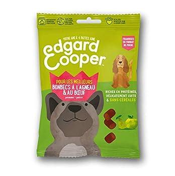 Edgard & Cooper Friandises Chien Chiot Naturelles sans Cereales Agneau et Boeuf,Pomme Poire, Sachet de Poche 50g