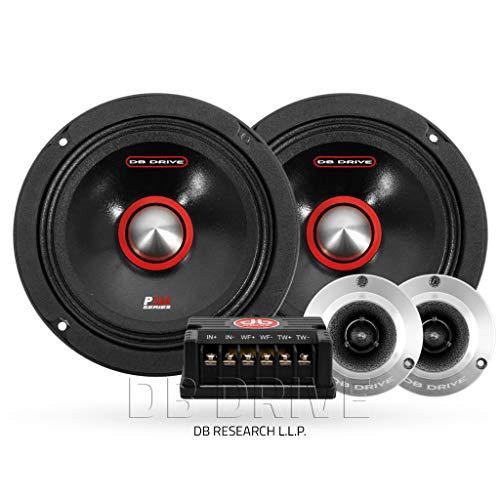 "DB DRIVE 6.5"" Midrange Stereo 250 Watts Car Audio Component Speaker System"