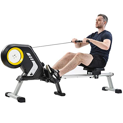 Best Prices! mytunes Magnetic Resistance Rowing Machine with Foldable Design, 8-Level Adjustable Res...