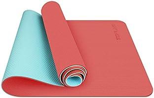 TOPLUS Gymnastikmatte, Yogamatte Yogamatte Gepolstert & rutschfest für Fitness Pilates & Gymnastik mit Tragegurt-183 x...