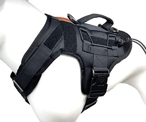 ALBCORP Tactical Dog Vest Harness – Military K9 Dog Training Vest – Working Dog Harness, Large, Black