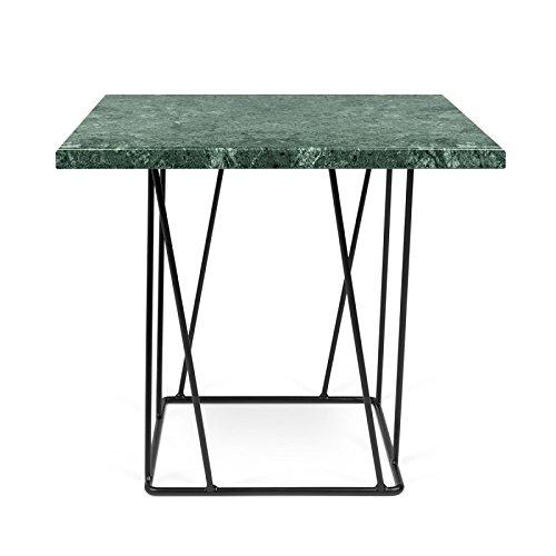 Paris Prix - Temahome- Table D'appoint Design Helix 50cm Marbre Vert & Métal Noir