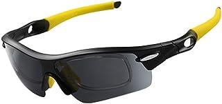 Fashion Polarizing Sunglasses Sunglasses Ride Windproof Outdoor Sports Goggles Retro (Color : Yellow)