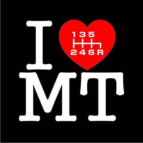 I LOVE MT ステッカー 6速シフトノブ仕様 (R右下)