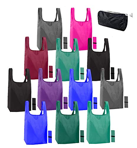 12 pack reusable bags for shopping. Ripstop Eco friendly recycle bags. Reusable grocery bags...