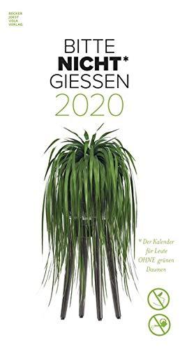 Bitte nicht giessen 2020 - Bildkalender (33 x 64) - Blumen - Pflanze - Ersatz für Zimmerpflanzen - Humor-Kalender - Wandkalender