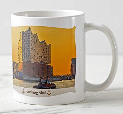 Fotografie Torsten Ackermann Hamburger Hafen Becher - Hamburg AHOI - Motiv: Blick auf die Elbphilharmonie in der Hafen City - Foto Tassen/Bilder/Souvenirs
