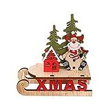 Papá Noel Remolque Trineo Renos Mini Remolque Trineo Navidad Decoraciones árboles Navidad Vintage Trineo Navidad Decoraciones navideñas Madera Mini Trineo Paseo en Trineo