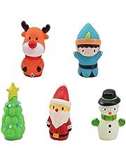 NUOBESTY 5 szt. bożonarodzeniowe paleki z palcem do kąpieli lalek Boże Narodzenie zabawki laleczki mini rysunek edukacyjne zabawki do rąk